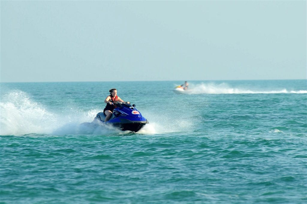 Jet ski from Marco Island Watersports.