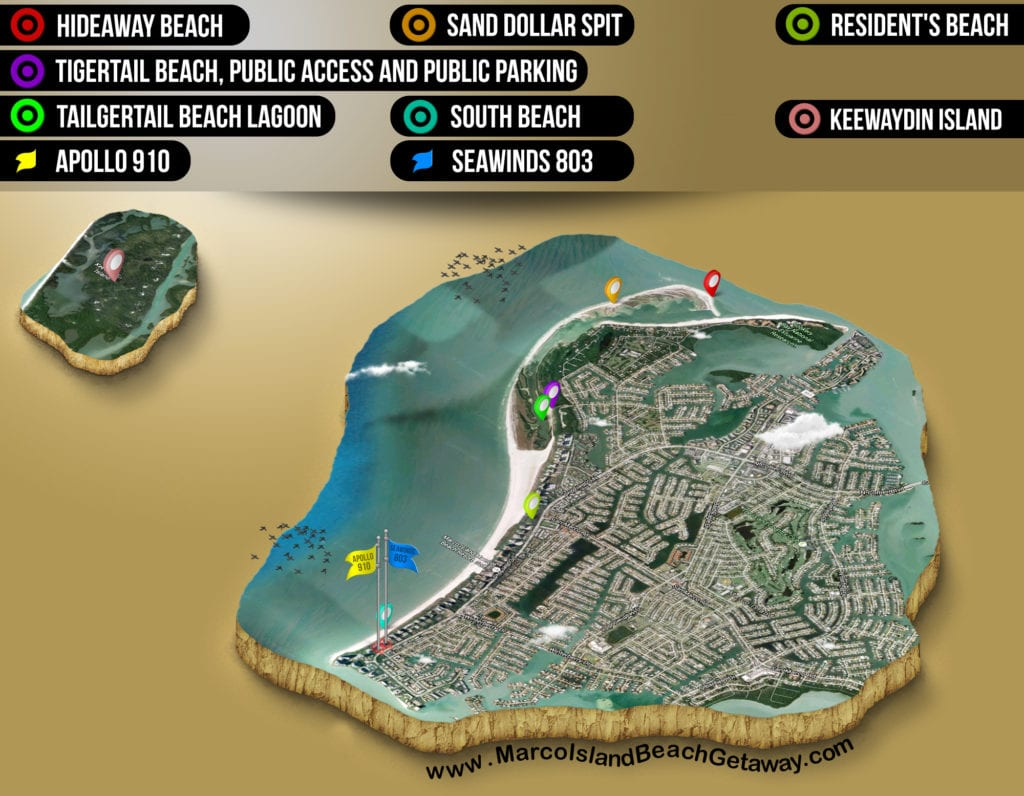 Map of Marco Island beaches