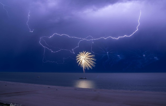 Fireworks on Marco Island, Florida